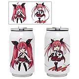 Yhrhredfjh - Termo para beber anime Hatsune Miku My Hero Academia Demon Slayer botella de viaje de acero inoxidable de doble capa portátil para deportes de agua (fecha A Live 04 350 ml)