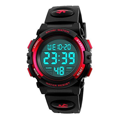Bambini orologio, sveglia Farsler orologi digitali sport 50 m impermeabile LED luminoso orologio da polso digitale per bambini e bambine per bambini
