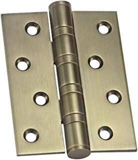 LIUFENGLONG Door Hinges Efficiently and Securely 5 Home Door Hinges Stainless Steel Ball Bearing Mute Hinges Smoothly Color : Silver, Size : 5 inch 4 Pcs Door Hinges