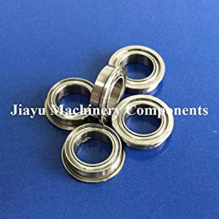 Fevas 50 PCS SMF85ZZ Flanged Bearings 5x8x2.5 mm Stainless Steel Flange Ball Bearings DDLF-850ZZ