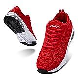 LARNMERN PLUS Sneakers Mujer Colchón Aire Zapatos Transpirables Asfalto Calzado Rojo 40