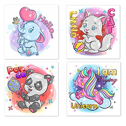 Ginkko 4 Sets Diamond Painting Kits for Adults, Cute Cartoon Animal Full Drill Crystal Rhinestone...