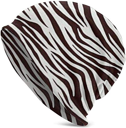 Suzhoufa Mütze Metro Living Zebra Chocolate Sleep Hat Soft Cotton Beanie Street Dancer Cap Watch, Daily Going Out Unisex Hiking