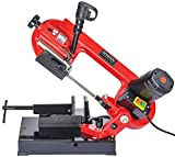 GENERAL INTERNATIONAL 4' Portable Metal Cutting Bandsaw - 5A Horizontal Band Saw with Compact Design & Adjustable Blade Guide - BS5202
