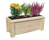Vaso da giardino con fioriera per terrazze o balconi, fioriera con vasi rimovibili, fioriera in legno per aiuole rialzate per fiori o erbe, fioriere da balcone