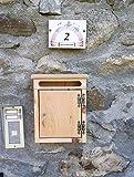 Cassetta Postale porta lettere da esterno in legno di larice misure L24 x P9 x H32, prodotto per Découpage neutro o trattato con impregnante Vari Colori a scelta