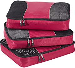 eBags Classic Large 3pc Packing Cubes (Raspberry)