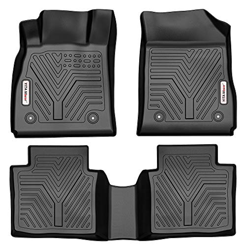 YITAMOTOR Floor Mats Compatible with 2014-2020 Chevrolet Impala, Custom Fit Black TPE Floor Liners 1st & 2nd Row All-Weather Protection