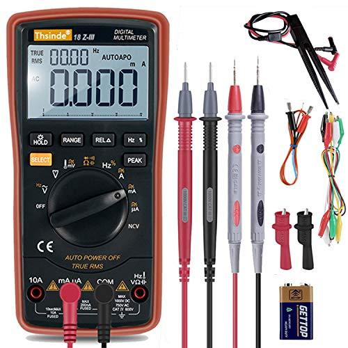 Multímetro digital con rango automático – 20000 cuentas retroiluminadas, dispositivo multicomprobador de voltaje, medidor de voltaje automático