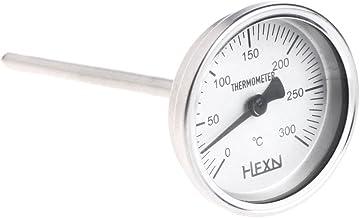 Termómetro de bimetal A0127 de acero inoxidable, rosca 1 / 4PT, L = 100 mm, 0~50 ~ 300 °C, WSS-303