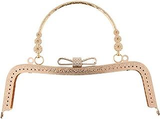 Prettyia Vintage Rhinestone Metal Purse Frame Kiss Clasp Lock Clutch Bag Handle