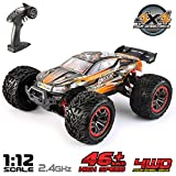 VATOS Ferngesteuertes Auto 1:12 Elektro RC Auto RTR RC Off-Road Buggy 46km/h High Speed 4WD 2,4 Ghz Wasserdicht Monstertruck Truggy fr Kinder und Erwachsene, Bestes Geburtstags Geschenk