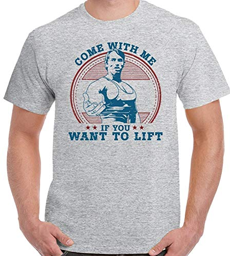 Peace Mesn Short Sleeve T Shirt As Worn by Arnold Schwarzenegger Come with Me If You Want To Lift Men Funny T Shirt
