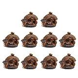 POPETPOP 10 Piezas Miniatura de Hadas Jardín Casa de Resina Pueblo Casa de Hadas Kits Figuritas Mini Casa de Hadas Jardín Kits Casa de Muñecas DIY Decoraciones Al Aire Libre