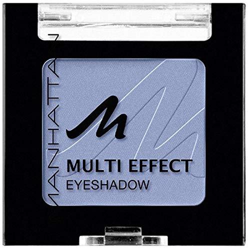 Manhattan Multi Effect Eyeshadow – Hellblauer, matter Lidschatten in handlicher Dose, farbintensiv und langanhaltend – Farbe Wild Wave
