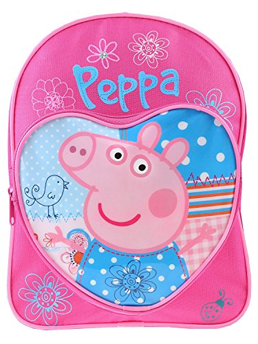 Peppa Pig Love Heart - Mochila infantil, color rosa y azul