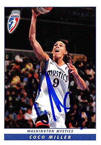 Autograph 157928 Washington Mystics 2005 Wnba Enterprises No. 103 Coco Miller Autographed Basketball Card