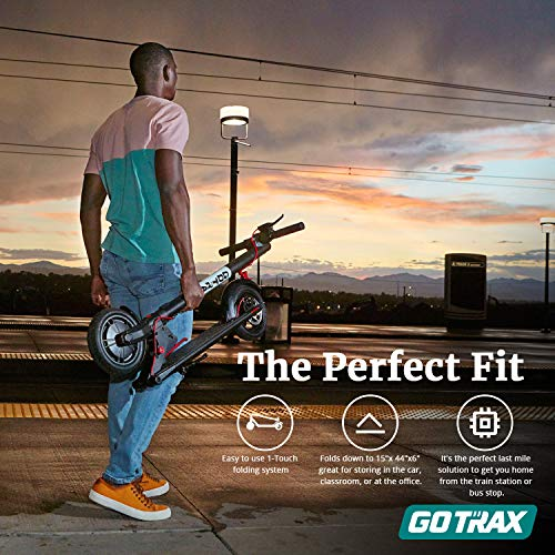 Gotrax GXL V2 Commuting Electric Scooter - 8.5' Air Filled Tires - 15.5 MPH & 12 Mile Range 2020 Edition, 39.37x7.87x15