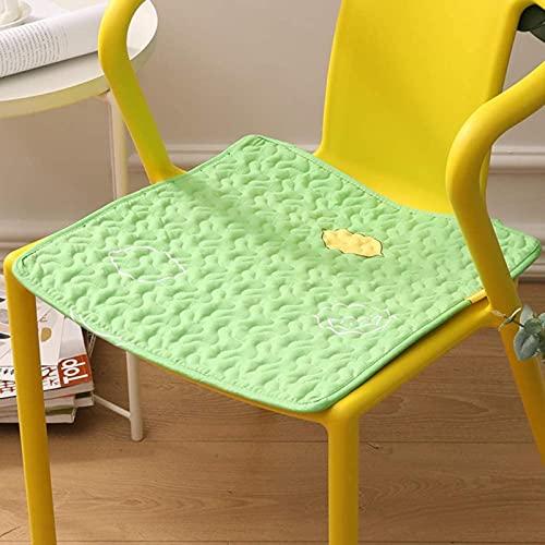 Cuscino del sedile quadrato di cotone, 16 ? X 16 ? Sedia in tufted cuscinetti per sedie per interni cuscini per ufficio per studenti e cuscini per auto con cravatte 1pc-verde 42x42cm (17x17inch)