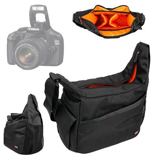 DURAGADGET Mochila con Compartimentos con Bandolera Ajustable para Cámara Canon EOS 1100D / 1000D / 100D / 10D / 1DC / 1D X Bandolera Al Agua