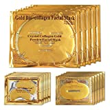 <span class='highlight'>24K</span> <span class='highlight'>Gold</span> Bio Collagen <span class='highlight'>Crystal</span> Face Mask   Eye Mask   Lip Mask, Anti ageing Skin Care (5pairs/set)