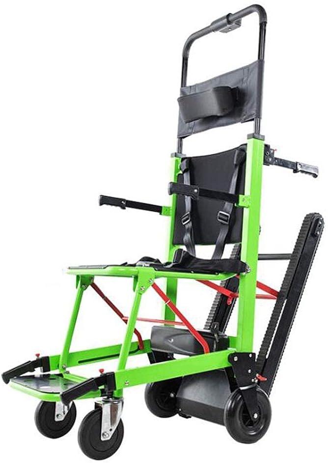WBJLG Silla de Ruedas eléctrica Plegable Que Puede Subir escaleras Silla eléctrica portátil de Viaje Ligero, para discapacitados y Ancianos Totalmente automático para Subir y Bajar Las escaleras S