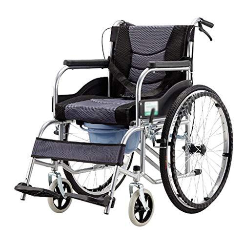 ZXMDP inklapbaar, licht, zelfpropel voor rolstoel, reisstoel, riem, pan, rolstoel, handwerk, geschikt voor oudere mensen