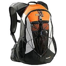AspenSport Unisex Backpack Minnesota, black / orange, 53 x 35 x 20 cm, 35 liters, AB05X03