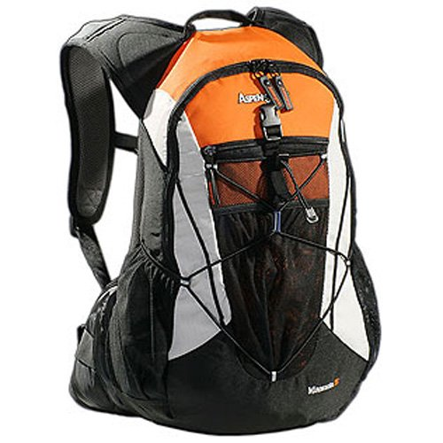 AspenSport Zaino Minnesota 35 Nero/Arancione 35 litri