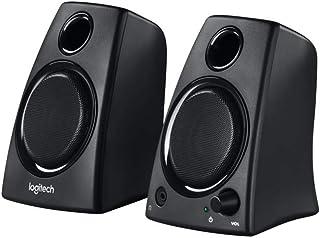 Logitech Z130 PC Speakers, Full Stereo Sound, Strong Bass, 10 Watts Peak Power, 3.5mm Audio Input, Headphone Jack, Volume ...