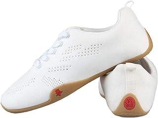 JINFAN Chaussures De Tai Chi pour Femmes Hommes Arts Martiaux Chaussures De Tai Chi Chaussures De Sport Kung Fu Unisexe Fl...