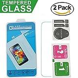 LG K5 Protector de Pantalla, [2 Pack] Candy House Cristal Vidrio Templado Film Protector Pantalla Delgada Glass Screen Protector para LG K5 / LG Q6 / LG X220