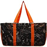 N. Gil All Purpose Open Top 23' Classic Extra Large Utility Tote Bag 4-2017 Fall New Pattern (Camo Orange)