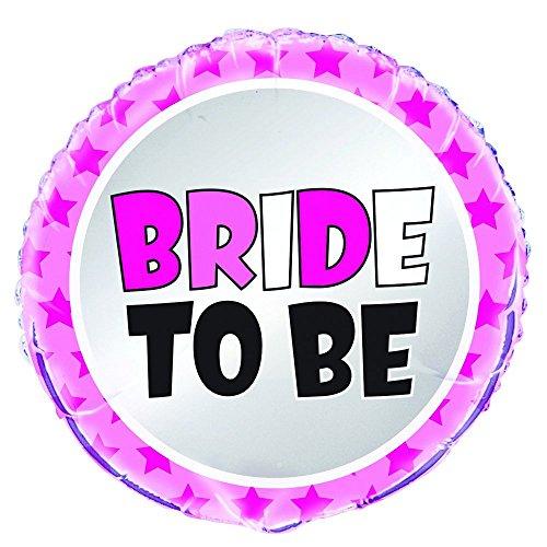 Unique Party 56671 45,7 cm folie Bride to be Hen Party Ballon