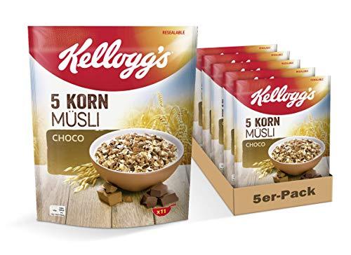 Kellogg's 5-Korn Müsli Choco | 5er Vorratspack | 5 x 500 g