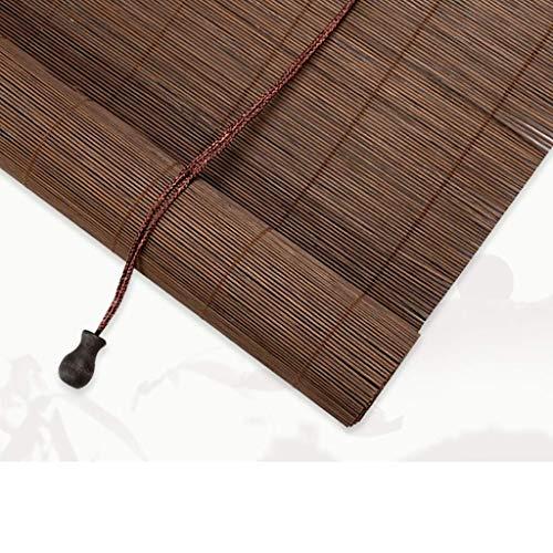 Bambus Rollo, getönte Fenstervorhänge, Lichtfilter Roll Up Rolläden for Studium, Balkon, Restaurant, Tea House, Unterstützung Customization Privacy Fenster-Vorhänge (Farbe: L, Größe: 80 * 220CM) 1yess