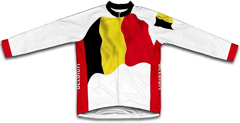 ScudoPro Belgium Flag Max 73% 40% OFF Cheap Sale OFF Winter Thermal for Cycling Jersey Men