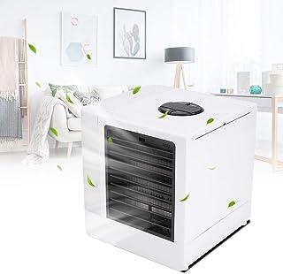 EBTOOLS Mini aire acondicionado, ultra enfriador de aire portátil con mini ventilador de escritorio LED USB para el hogar, dormitorio, oficina al aire libre