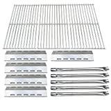 Direct Store Parts Kit DG210 Replacement for Ducane 30400042,30400043,30558501 Gas Grill Burners,Heat Plates,Cooking Grid (SS Burner + SS Heat Plate + Solid Stainless Steel Cooking Grid)