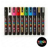 Posca Coloring, PC-5M, paquete de 10 marcadores más vendidos