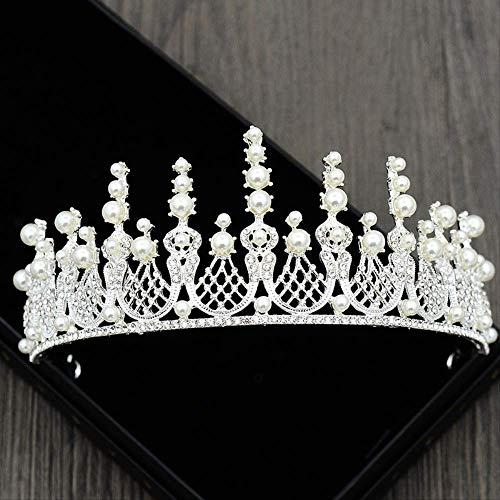 Pelo de la novia, vestido de novia de la corona de la...