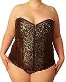Übergrößen Damen Corsage braun (Kleidergrößen 56-60 (10XL-12XL)): Formende Corsage für große...