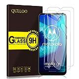 QULLOO Panzerglas für Moto G8 Power Lite, 9H Gehärtetes Schutzfolie Anti-Kratzer Glas Folie Bildschirmschutzfolie für Motorola G8 Power Lite - [2 Stück]