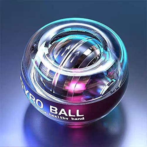 HONGBola Energética de Entrenamiento Bola de Potencia Bola Automática de Empieza para Ejercicio Accesorios de Fitness Bola Giroscópica LED de Fuerza - Entrenador Manual, Bola giratoria