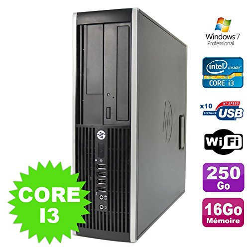 PC HP Compaq Elite 8100SFF Intel Core i3–53016GB disco 250GB DVD Wifi W7