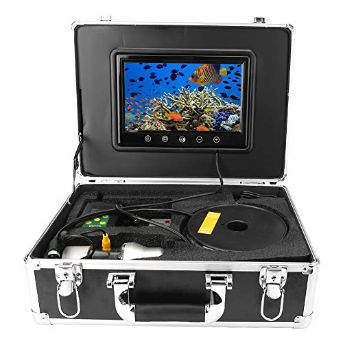 9inch 50m Cable Underwater Fish Detection Color Camera, 38 LEDs, 7 Speed adjustments, 0-360 Degree omnidirectional Field of View(U.S. regulations)