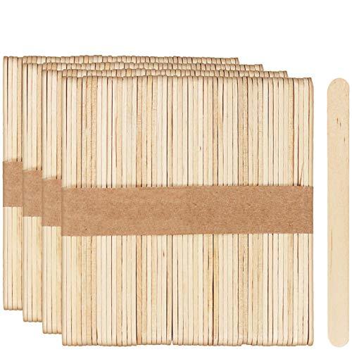 com-four® 200x Eisstiele aus Holz - Holzstiele für Kaffee, Cakepops, Lollies und Eis - Holzstäbchen zum Basteln - Kaffeestäbchen - 11 x 1 cm (200 Stück)
