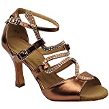 Women's Ballroom Dance Shoes Tango Wedding Salsa Dance Shoes Copper Sera7017EB Comfortable - Very Fine 2.5' Heel 5 M US [Bundle of 5]