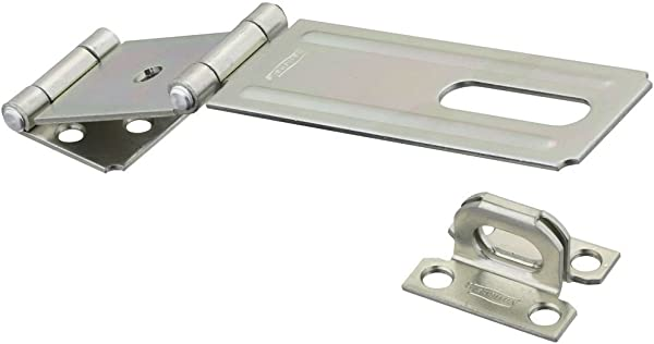National Hardware N103 291 V34 Double Hinge Safety Hasp In Zinc Plated