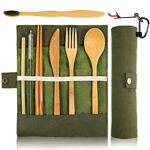 Bamboo Utensils Cutlery Set BEWBOW